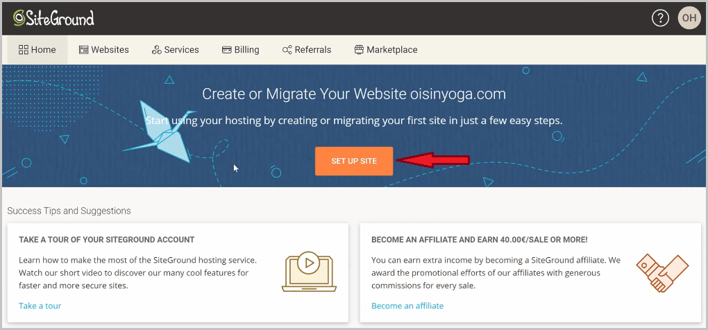 How to start a blog from scratch on siteground