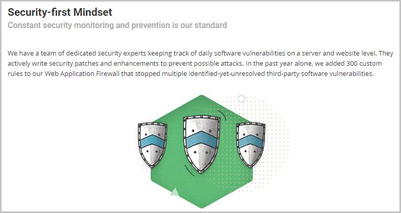 Siteground vs A2 Hosting - Security