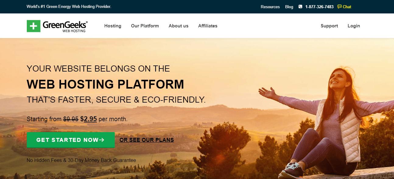 Siteground Alternative: GreenGeeks Hosting