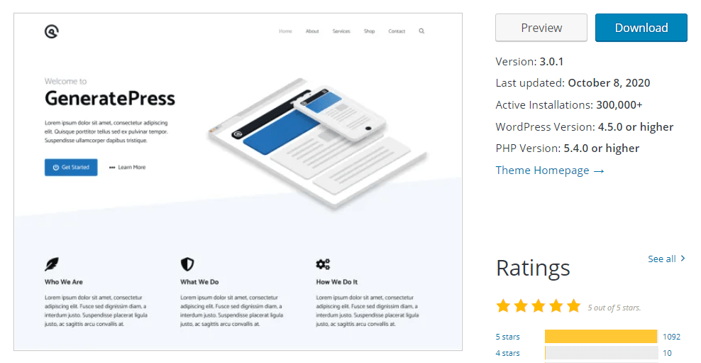 GeneratePress Free Theme