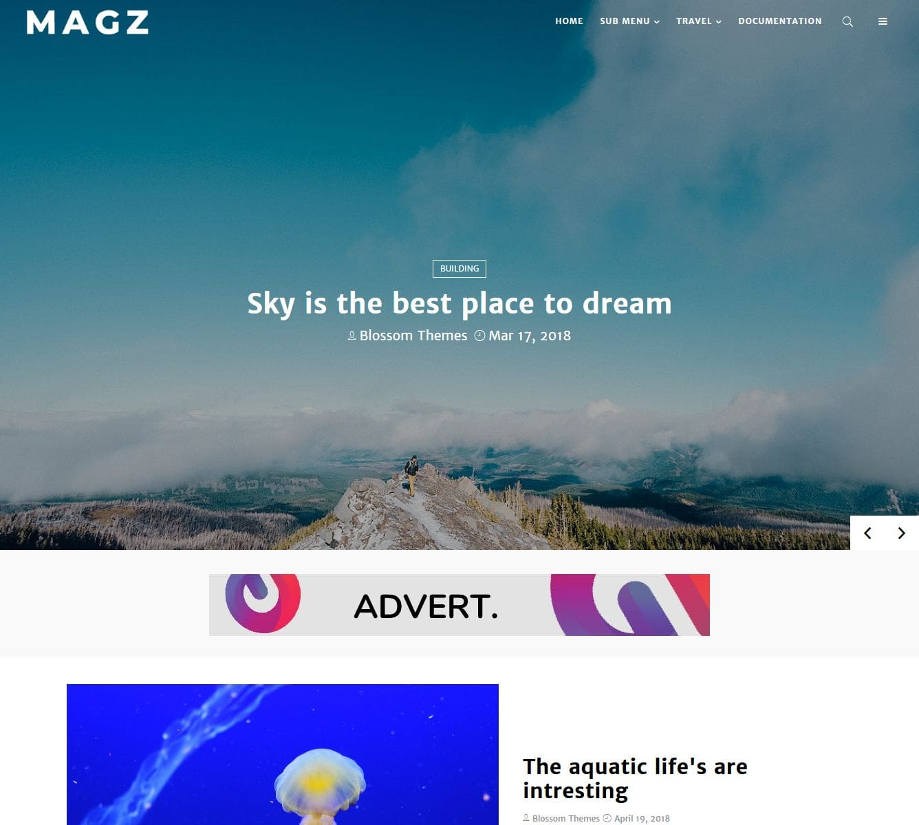 MagZ blogger template without copyright